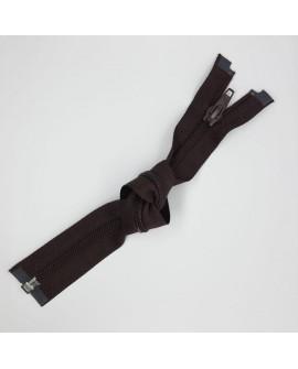 Cremallera separadorde  nylon 25 cms y malla 5 especial para prendas y complementos desmontables color negra