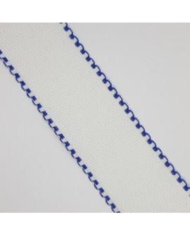 Entredos panamá de punto de cruz especial para bordar cenefa de color azulón