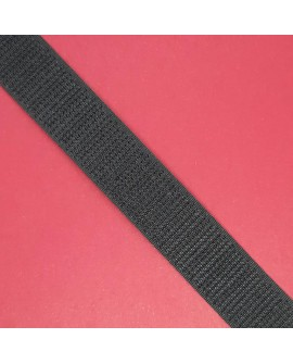 Velcro 2 cms cosido negro parte macho gancho