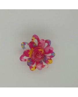 Imperdible flor decorativo para tus prendas y complementos multicolor fucsia
