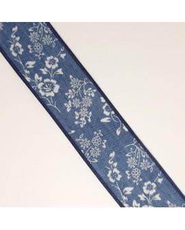 Galón fantasía vaquero con flores estampadas cinta decorativa especial para prendas y complementos