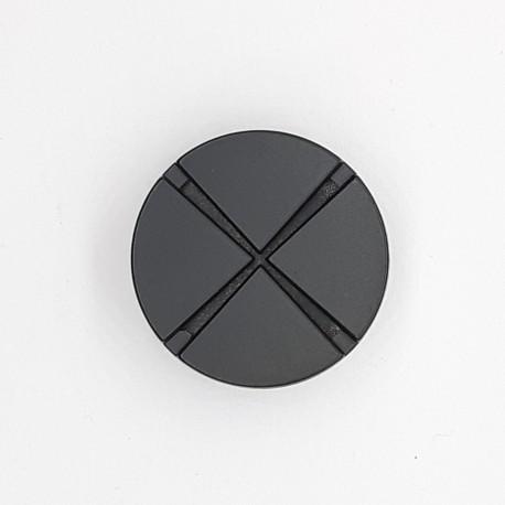 Botón filigrana metalizado negro mate decorativo con un dibujo y diseño casual ideal para darle un toque personal a tus prendas