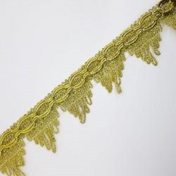 Fleco galón puntas color oro decorativo, adorno clásico especial para prendas de fiesta y complementos