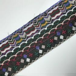 Galón bordado multicolor fantasía