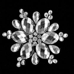 Aplicación cristal termoadhesiva adorno precioso especial para novias ideal para prendas y complementos de fiesta