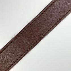 Tira polipiel especial para asa de bolsos, mochilas, macutos, cestas, maletas,... de diseño liso y resistente de color marrón