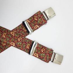 Tirantes caballero de 4 cms con estampado de cachemir y pinza especial de estupenda sujección y resistencia, ideal para eventos