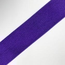 Cinta elástica de 4,5 cms morada, con un rizo cómodo y suave, especial para cintura o cinturilla de pantalones y faldas
