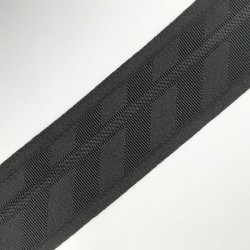 Cinta elástica 5,5 cms dibujo y lurex negro
