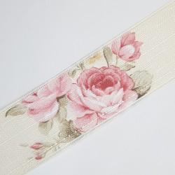 Cinta algodón lino floral 4,2 cms