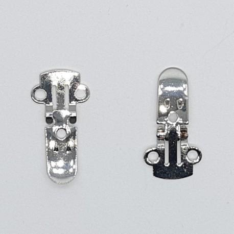 Pinza clip especial para zapatos niquel, adorno original y personal para prendas y complementos