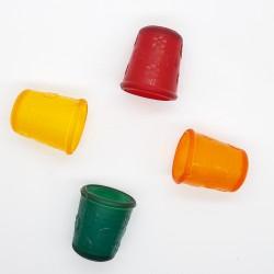 Dedal de silicona flexible para costura y manualidades