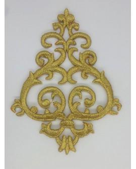 Aplicación bordada dorada termoadhesiva especial prendas y complementos cofrades, Semana Santa,..