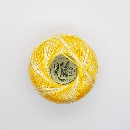 Ovillo de hilo matizado nº 8 Presencia de 10 gr.  Amarillo C/ 9060