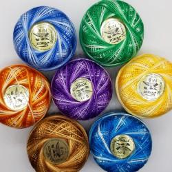 Ovillo de hilo matizado nº 8 Presencia de 10 gr  Colores