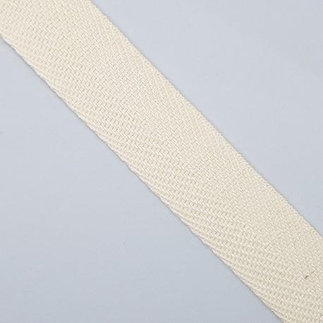 Cinta espiga de algodón beige resistente y duradera