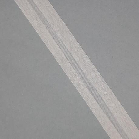 Cinta bies organdí 1,8 cm beige