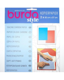 Papel de copia burda especial para patrones de dos colores azul y rojo muy utilizado en corte y confección