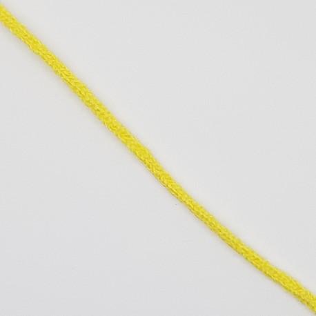 Cordón especial para mascarillas elástico suave de color amarillo, también llamado cordón quirúrgico