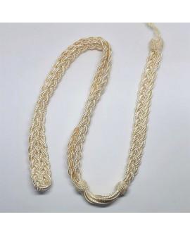 Cordón beige especial para primera comunión, cofradias y actos religiosos con un diseño distinguido y sencillo
