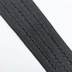 Cinta elástica suave de color negro de 7 cms con dibujo pieza para un sinfín de proyectos decorativos
