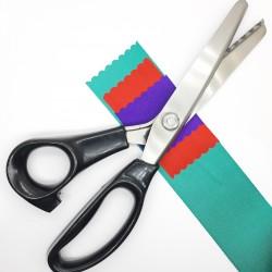Tijera festonear de ondas, para darles a tus tejidos, cintas y proyectos decorativos un toque original