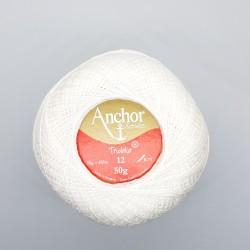 Ovillo Nº 12 blanco hilo Tridalia crochet - ganchillo 50 gramos