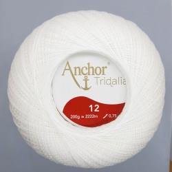 Ovillo Nº 12 blanco hilo Tridalia crochet - ganchillo 200 gramos