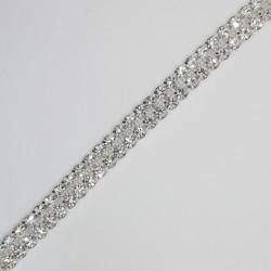 Pasamanería strass de cristal checo. Tira elegante y sublime de alto brillo especial para prendas y complementos de fiesta.