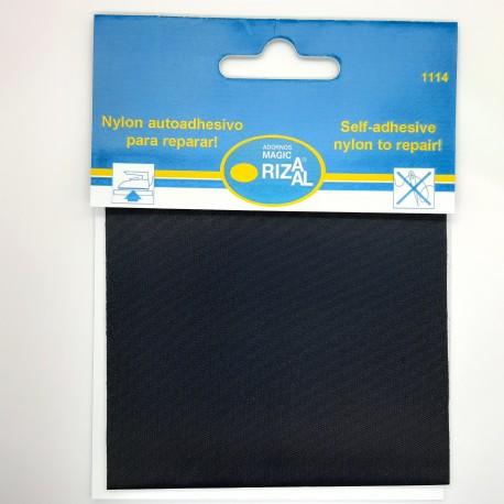 Tejido reparador autoadhesivo Rizaal de color azul marino. Especial para prendas finas de nylon como paraguas, chubasqueros,..