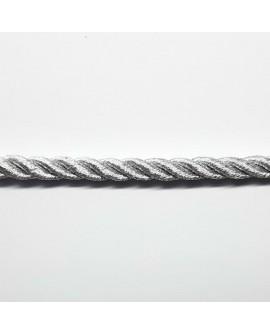 Cordón metalizado trenzado con brillo color palta decorativo con un diseño clásico y elegante