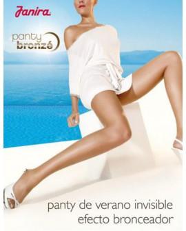 Panty Bronze Janira especial verano media con efecto bronceado y puntera reforzada e imperceptible