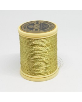 Hilo metalizado DCM color oro claro brillante especial encajes de bolillo o bordado a mano, trabajos de labores y bordado