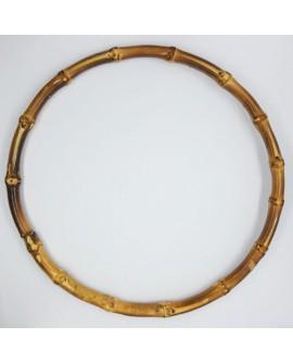 Asa para bolso redonda de madera imitación a bambú adorno decorativa ideal bolsos y cestas de mano