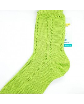 Calcetín Condor de perlé calado especial infantil diseño clásico verde pistacho