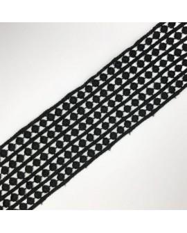 Galón con círculos decorativos. Cinta de 7 cms de algodón. especial para ribetes, remates y acabados en prendas y complementos.