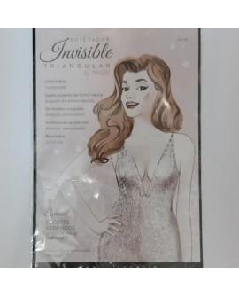 Sujetador invisible triangular, adhesivo y desechable. Especial para escote, espalda y hombros descubiertos.