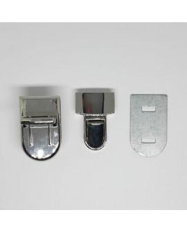 Cierre metálico brillante decorativo. Especial para embellecer bolsos, macutos y maletines. De diseño clásico y distinguido.