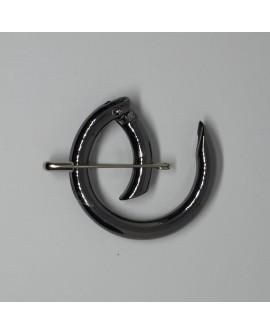 Mosquetón cierre redondo con apertura negro pavonado