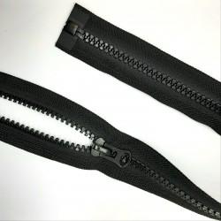 Cremallera separador negra inyectada 70 cms malla 8. Resistente especial chaquetas deportivas, de nieve, sport,..