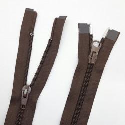 Cremallera separador especial doble cursor 1 metro ideal para chaquetas, abrigos y cazadoras largas color marrón