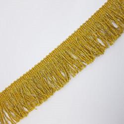Fleco clásico metalizado dorado 5 cms