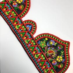 Galón bordado multicolor con puntas decorativas. Especial remates y acabados. Adorno ideal para prendas y complementos