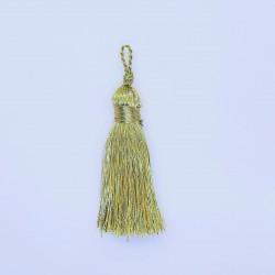 Borla metalizada dorada brillante y elegante. Ideal actos religiosos. Adorno para cojines, cortinas, bolsos, chaquetas,..