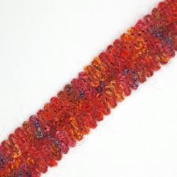 Galón de lana rosa de 3 cms original y peculiar. Especial para remates y acabados en prendas y complementos.