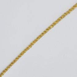 Cordón dorado metalizado trenzado 3 mm.