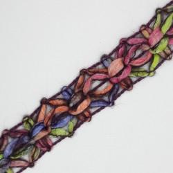 Pasamanería galón lana multicolor cardenal 2 cms