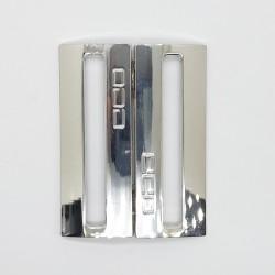Hebilla metalizada plata 5 cms Zamak decorativa