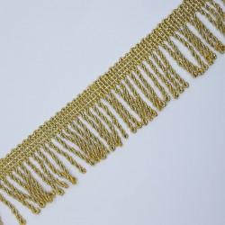 Fleco metalizado dorado rapacejo de 3,5 cms.
