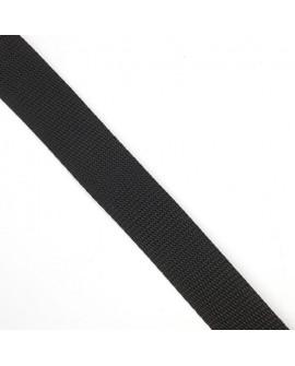 Cinta mochila poliéster negra 2,5 cms. Especial mochilas